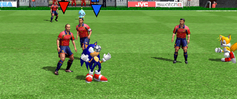 Watch Sonic Cameo His Way Through Virtua Striker 3