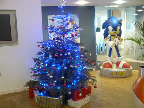 An Under The Radar Post On SEGA Europeu0027s Flickr Account Reveals Their  Holiday Cheer, A Christmas Tree With Blue Lights! And Thatu0027s All I Got To  Say About ...