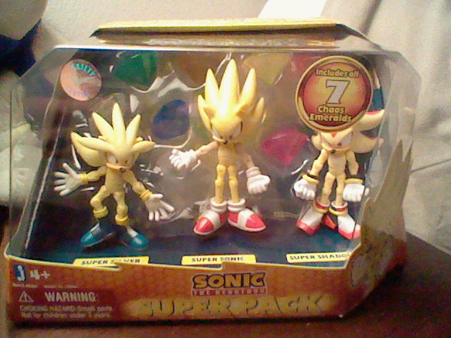 Super Sonic  Super Shadow Super Sonic And Super Shadow And Super Silver Toys