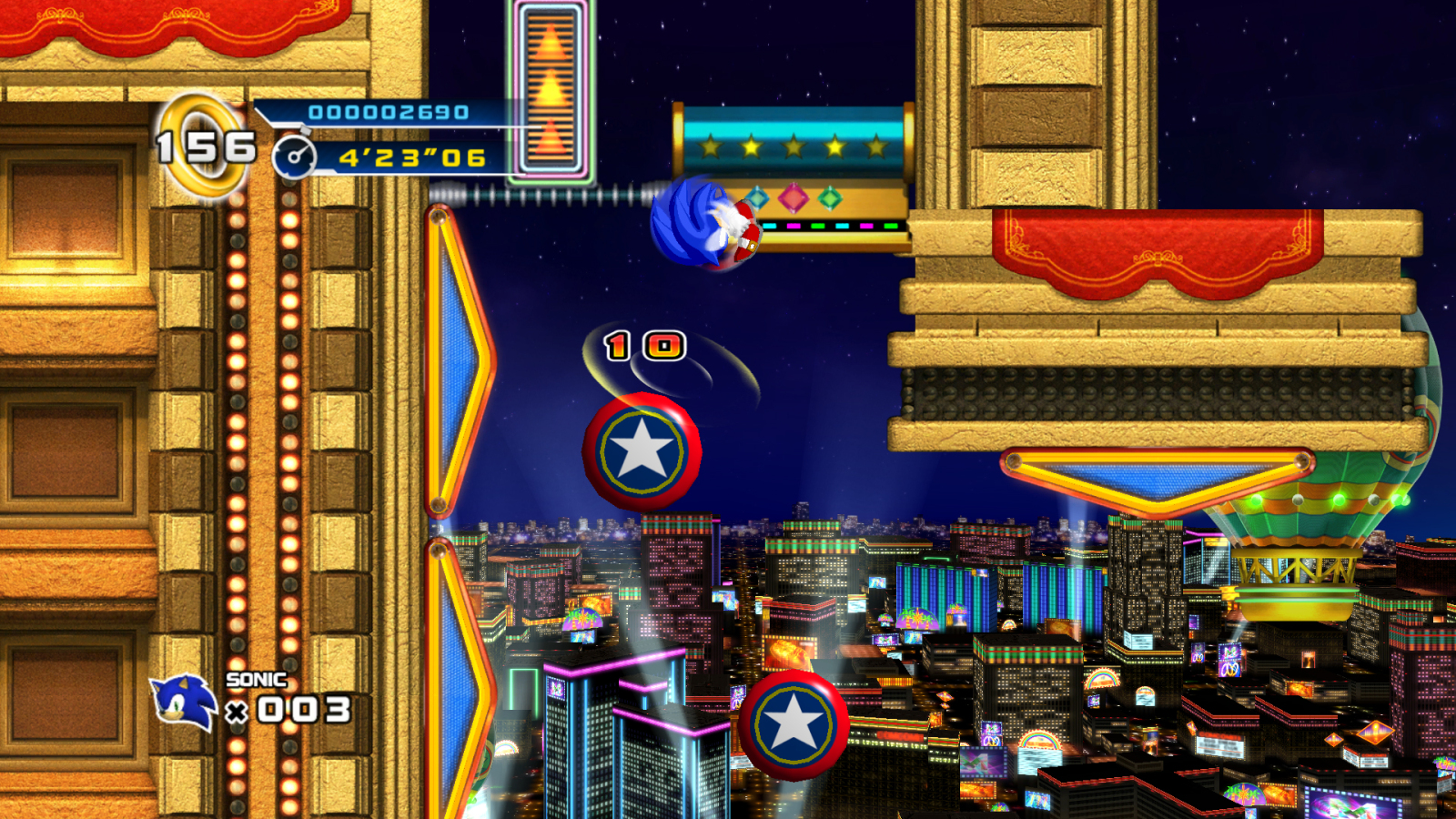 new sonic 4 casino street zone screenshots the sonic stadium. Black Bedroom Furniture Sets. Home Design Ideas