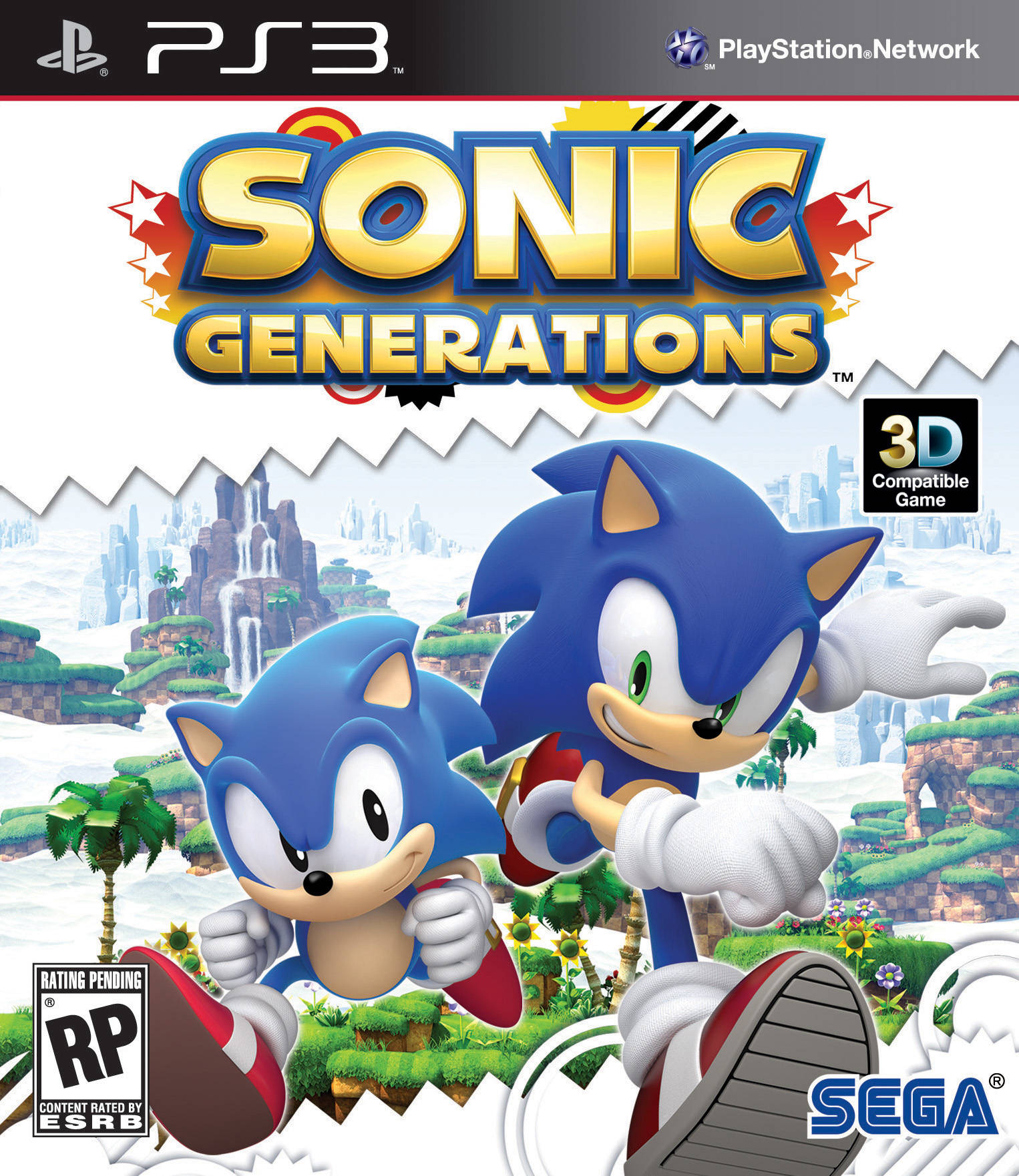 Sonic Generations PS3 box art