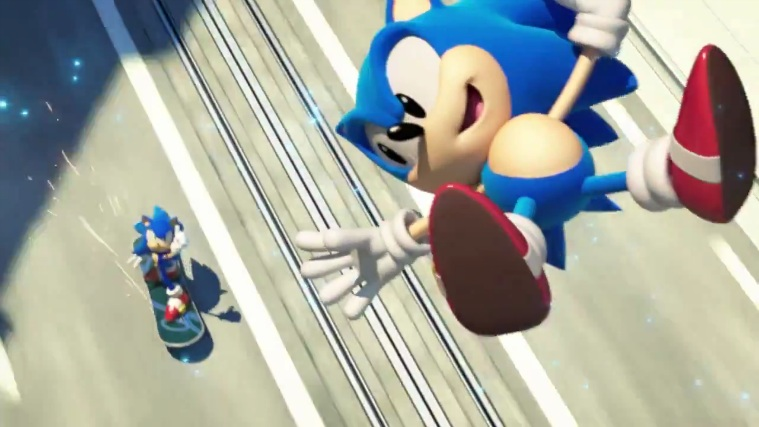 sonic generations city escape with modern sonic all the way through the sonic stadium