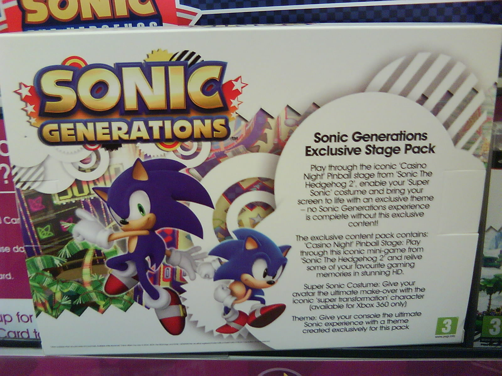 GAME Sonic Generations Pre-Order DLC Details