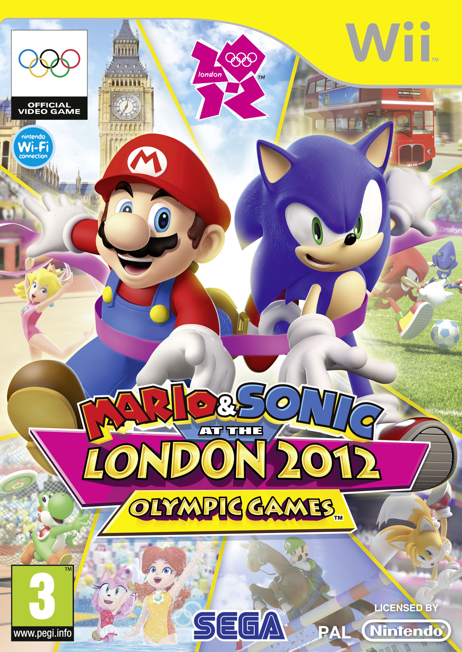 Mario & Sonic at the London 2012 Olympic Games Wii box art UK