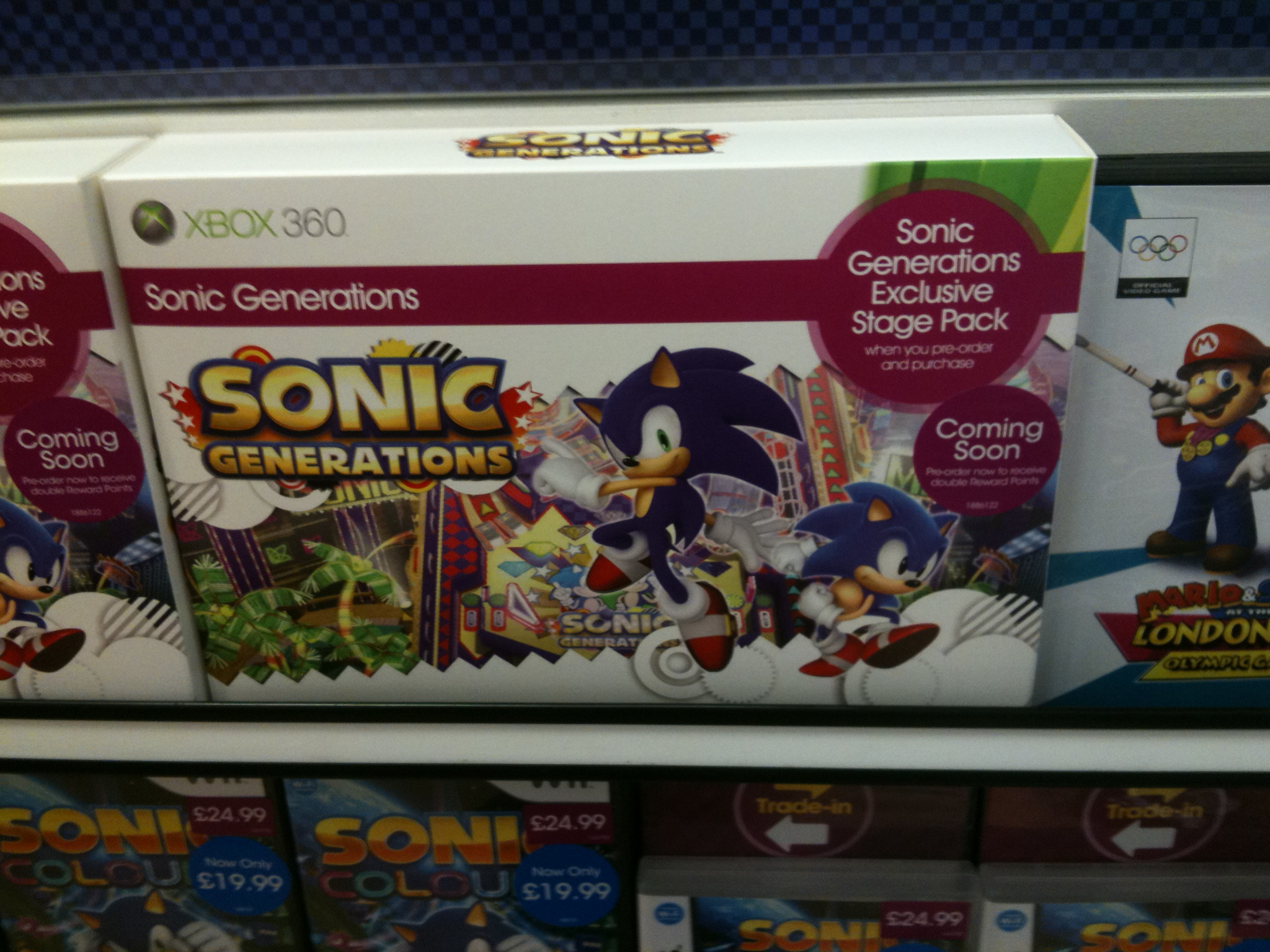 Sonic Generations GAME Exclusive Stage Pack
