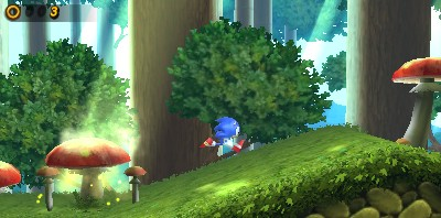 Sonic Generations Mushroom Hill 3DS Gameplay Footage from Gamescom 2011