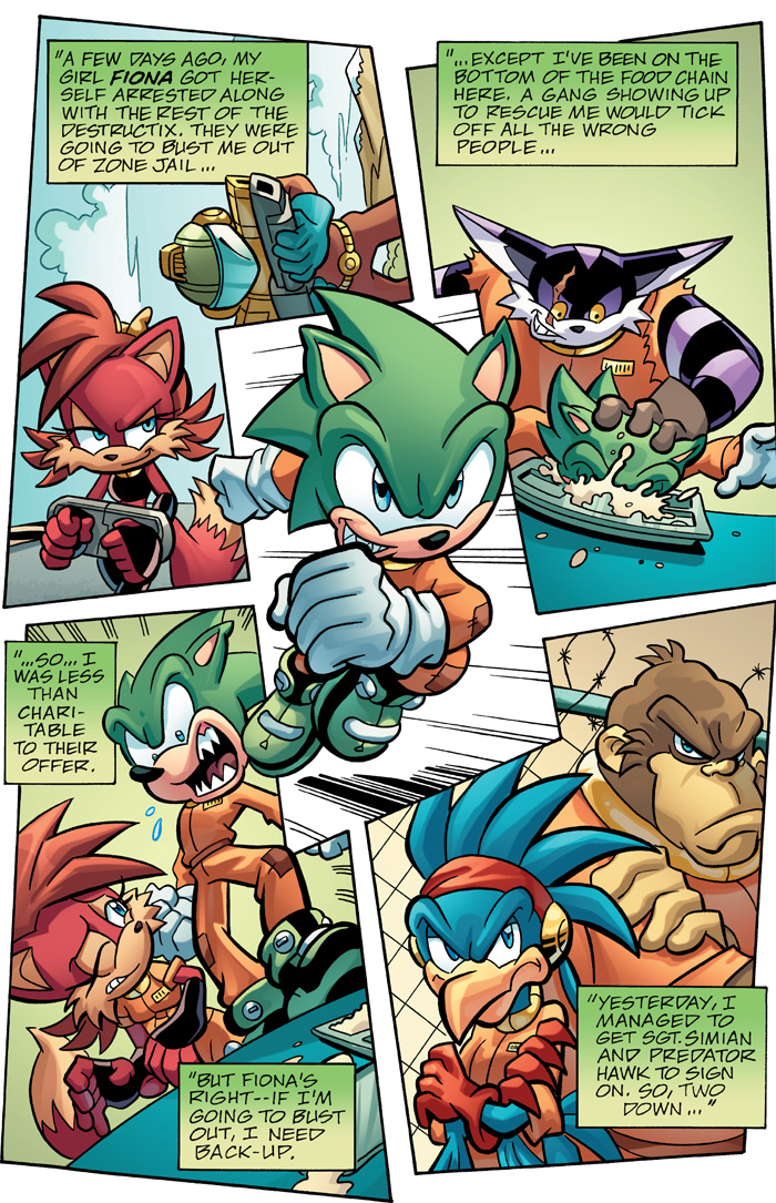 Sonic Comic Review Sonic Universe 29 32 Scourge Lock