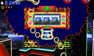 Sonic Generations 3DS Nintendo UK Casino Night Zone Screenshot 1