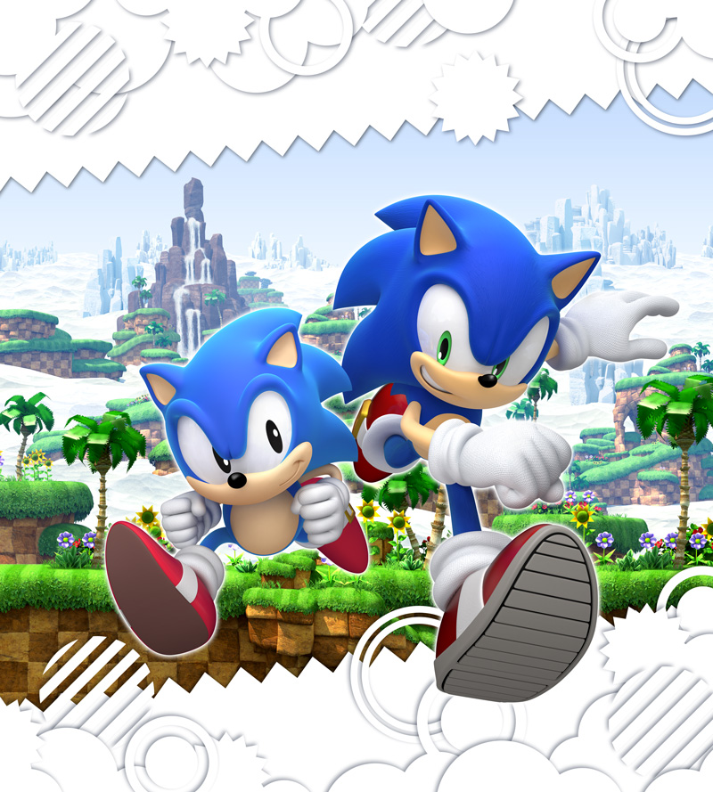 Sonic Generations PS3 & Xbox 360 character artwork