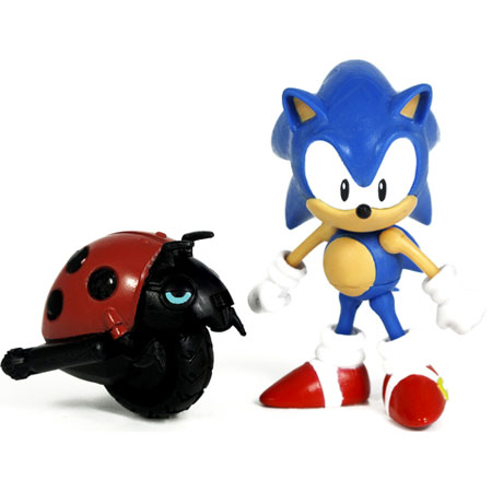 Classic Sonic and Motobug action figure