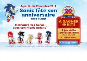SEGA Partners With Flunch to Promote Sonic Generations