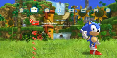 Sonic Generations PS3 Dynamic Theme 1