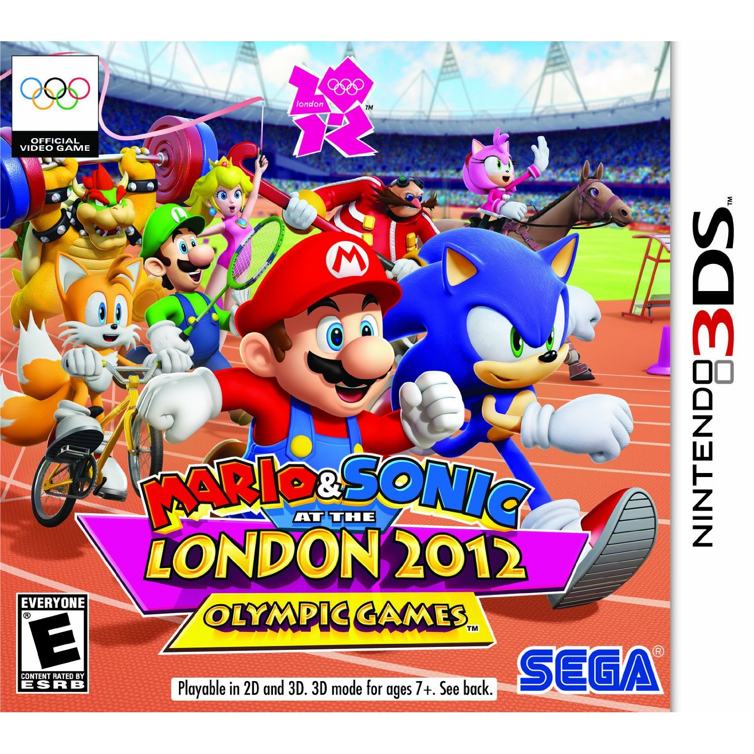 Mario & Sonic at the London 2012 Olympic Games 3DS US Box Art