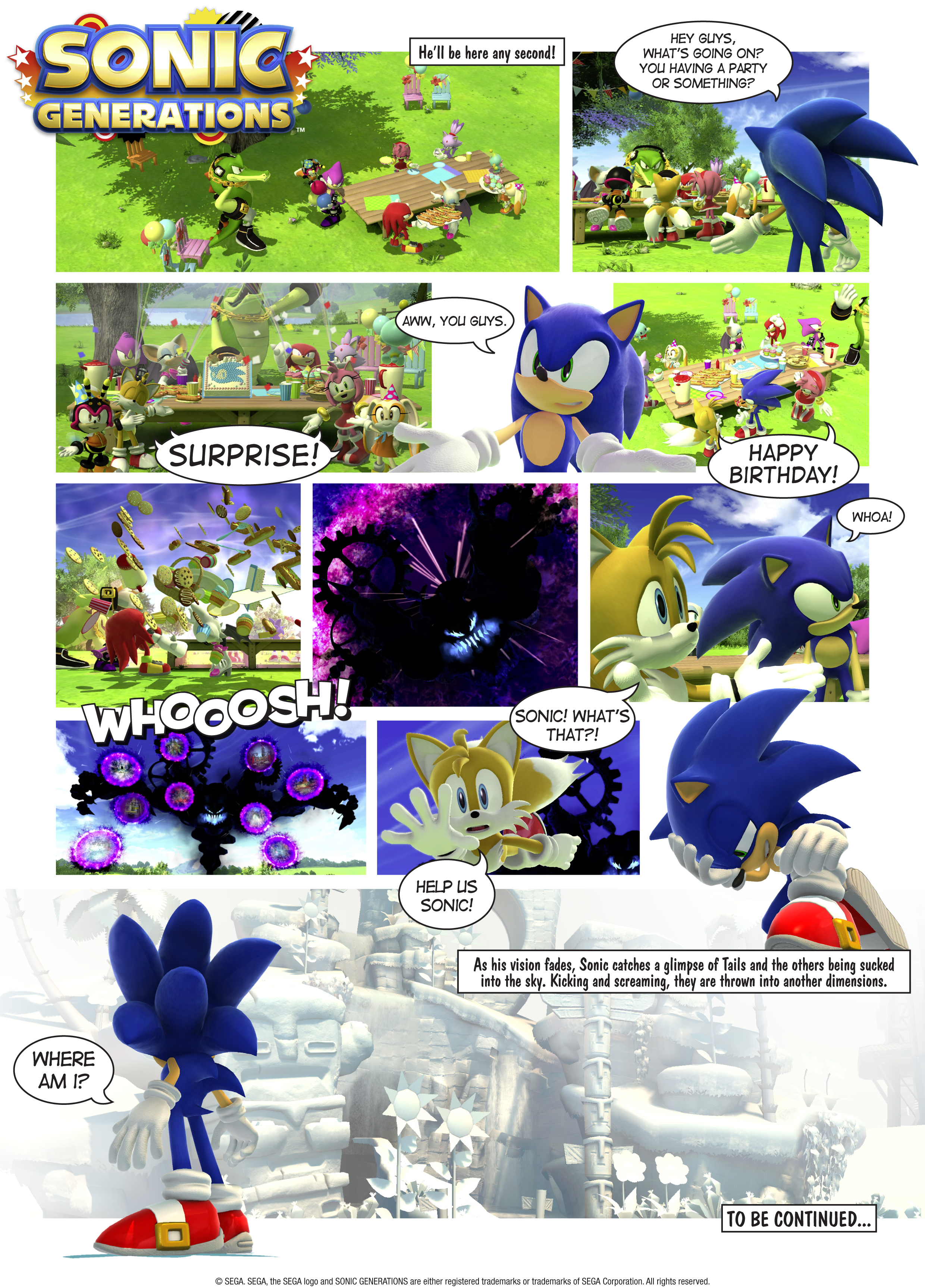 Sega Releases Sonic Generations Comic Strip