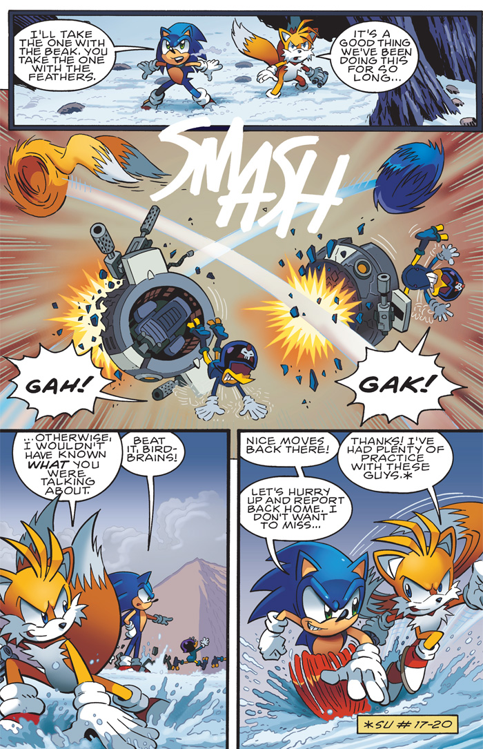 comics Sonic and tails