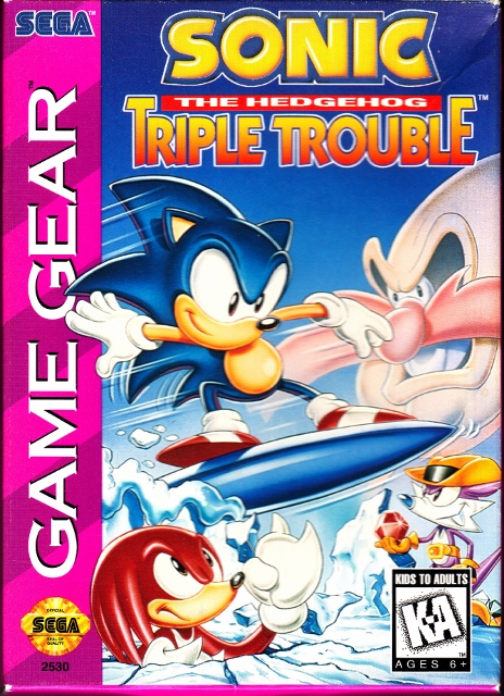Sega Game Gear Sonic the Hedgehog Triple Trouble Front Cover (464x640)