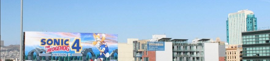 See San Francisco's Sonic 4: Episode II Billboard