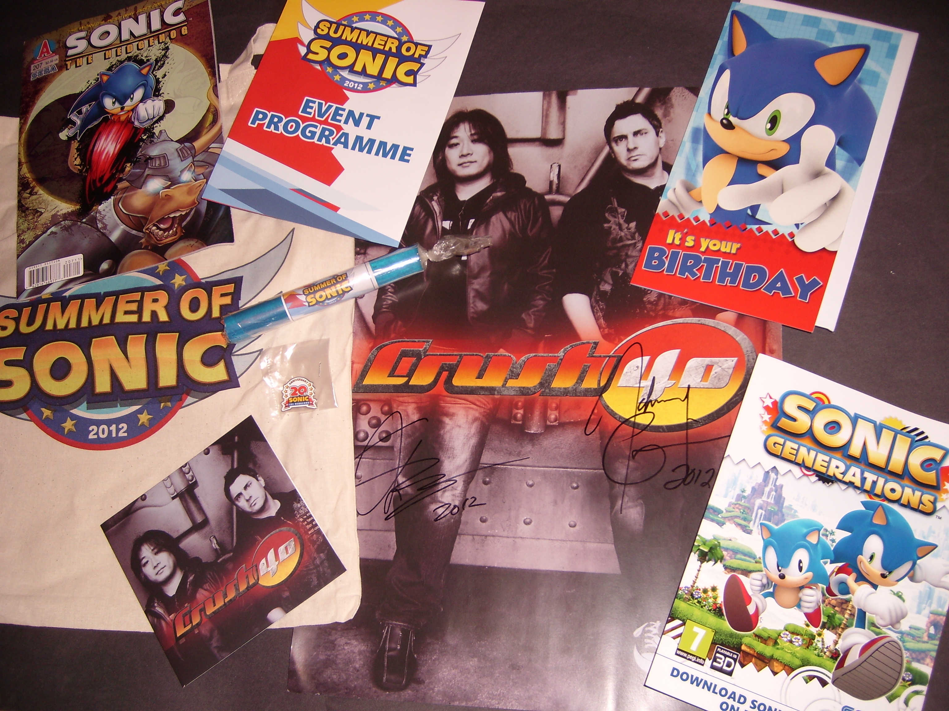 Competition: Win a Summer of Sonic Goodie Bag + Crush 40 Signed Merchandise!