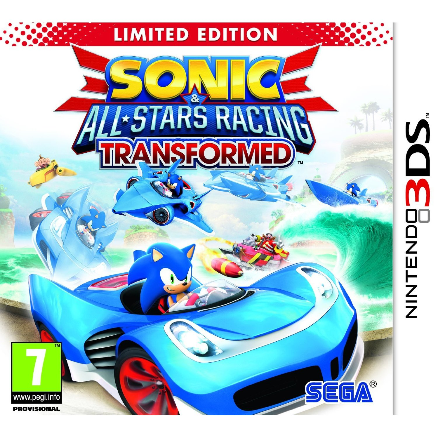 Sonic & All-Stars Racing Transformed 3DS Limited Edition Packshot