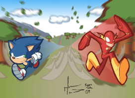 Sonic is Faster than The Flash & Deadpool