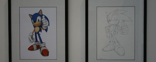 Signed Original Uekawa Artwork & 10th Anniversary Wine Glass Up For Auction
