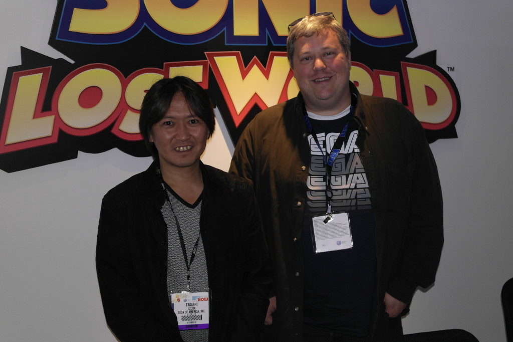 Iizuka (left) and his translator.