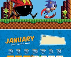 Sonic the Hedgehog 2014 Calendar Images Pop Up on Amazon