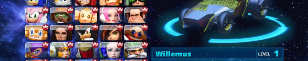 Start Ye Engines! Willemus Joins Sonic & All Stars Racing Transformed