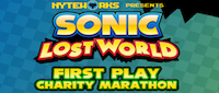 Oxford and Flynn Team Up for Sonic Lost World First Play Charity Marathon