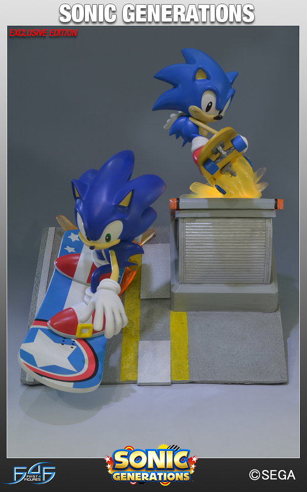 "Pre-Order Now: First 4 Figures Sonic Generations ""City Escape"" Diorama"