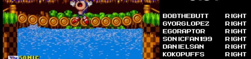 Twitch Plays Sonic 1?