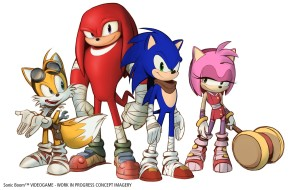 Sonic Boom's new designs for the main cast