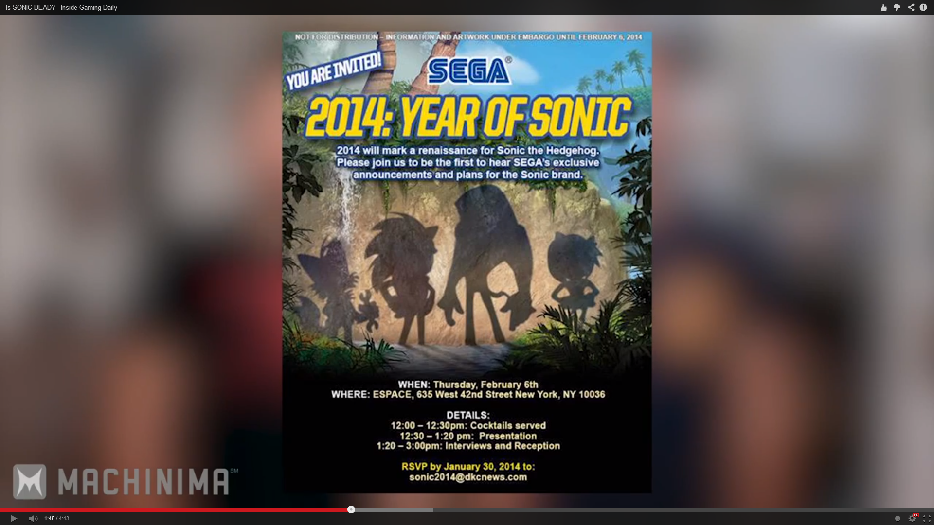 Sega: 2014 is the Year of Sonic
