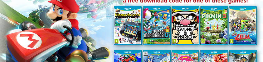 (Europe) Buy and register Mario Kart 8 on Club Nintendo and you can choose to get Sonic Lost World or Mario & Sonic at the Sochi 2014 Olympic Winter Games for FREE digitally on Wii U