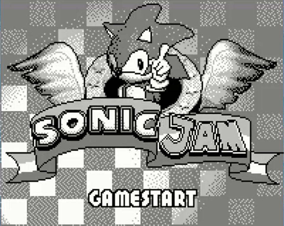 Sonc Jam title screen