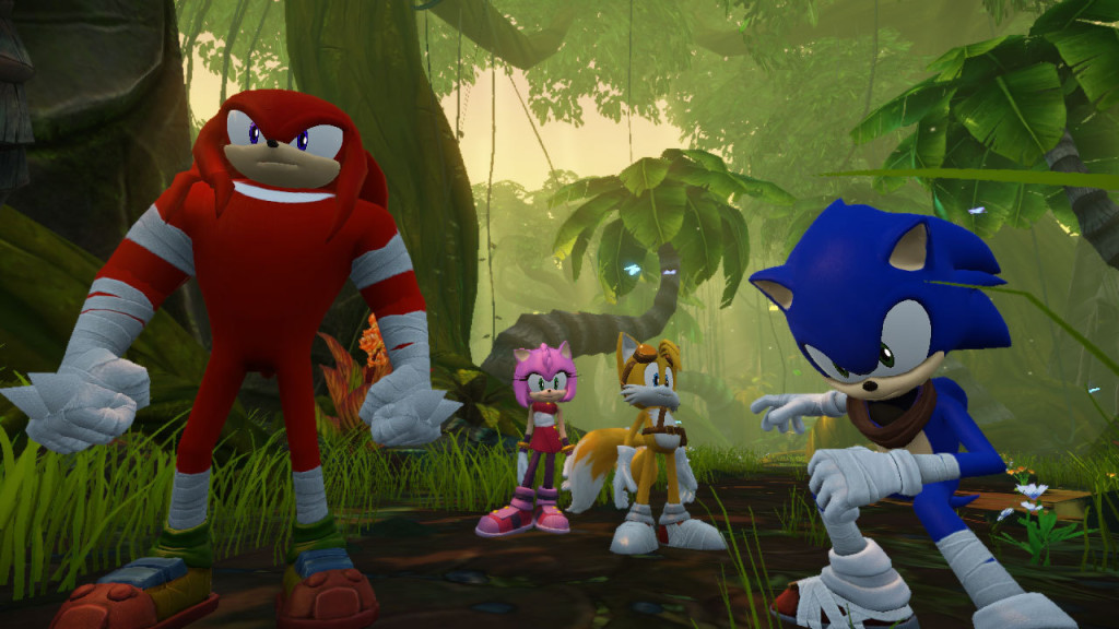 "Sonic ""Hey look! No Shadow!"" Knuckles ""The Hedgehog?"" Sonic ""No. On the ground."""