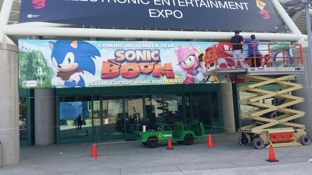 Sonic Boom Banner at E3