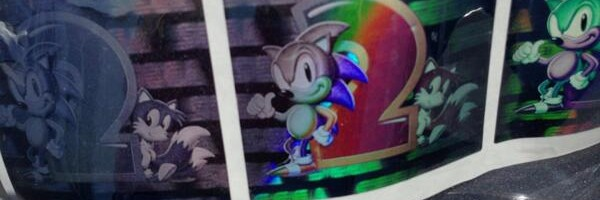 Sonic 2's Lost Holographic Cartridge Labels