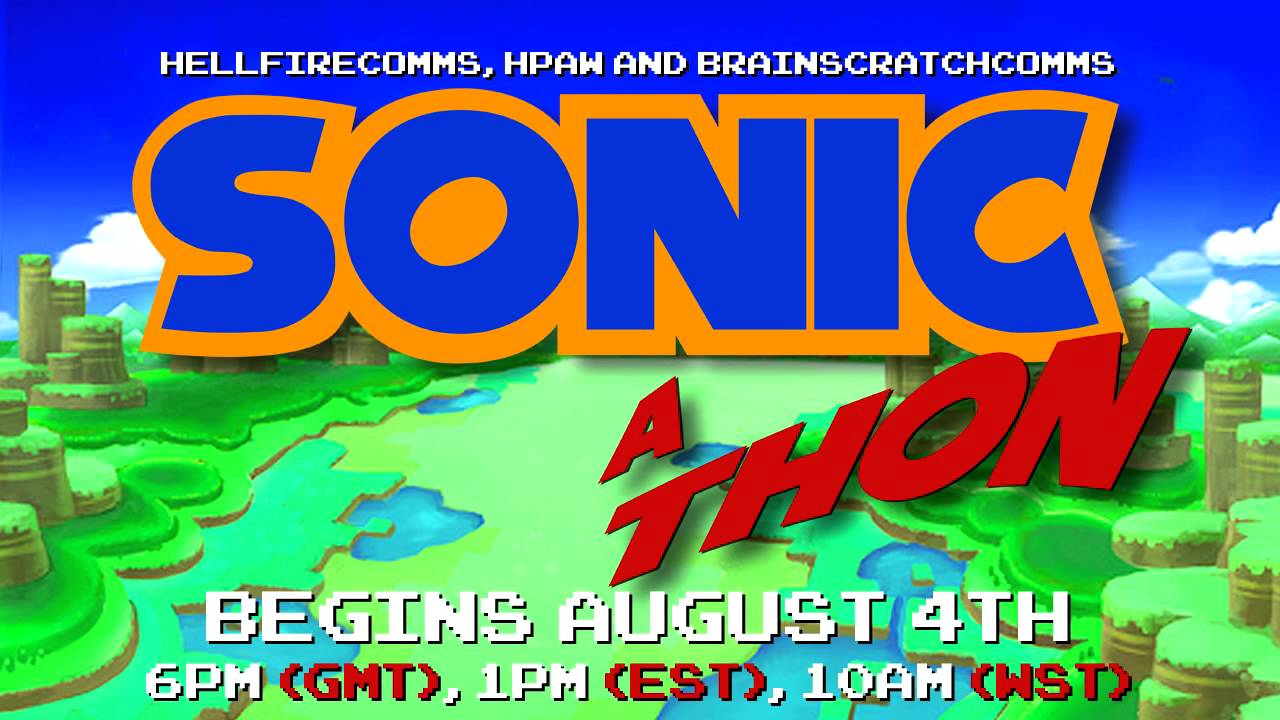 Sonic-a-thon for Child's Play ongoing, ends on Aug 20th