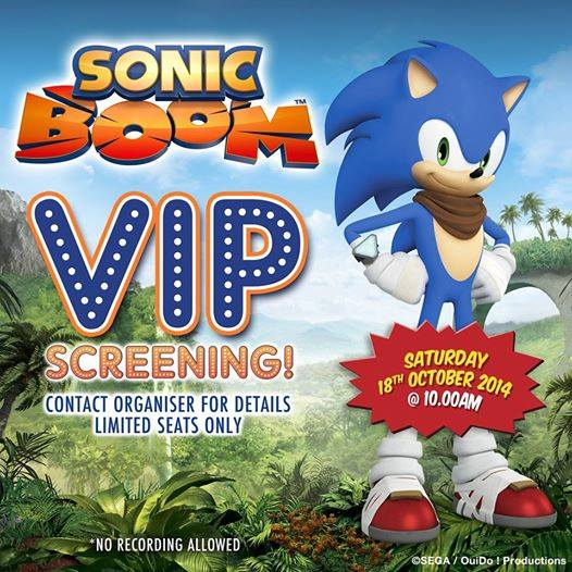 Sonic Boom TV Show Premiere and Merchandise Debut Lined up for Armageddon Expo