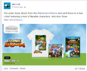 Get a Sonic Boom shirt featuring likeable characters like Sonic, Tails, Knuckles, and Sticks! Oh and Amy's there too.