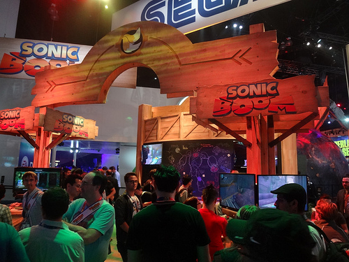 Image from Sonic Boom's E3 2014 booth.