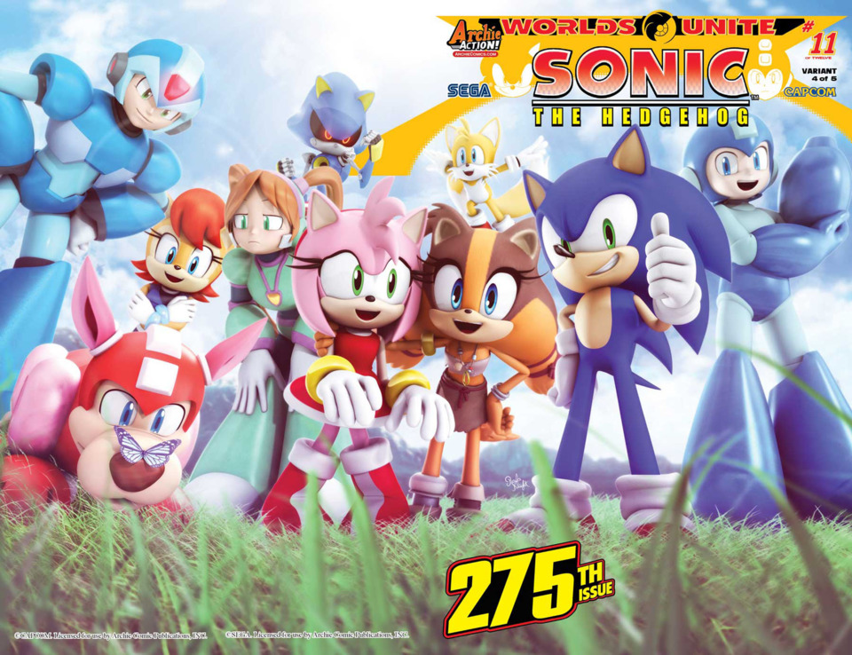 Covers and Solicitations for Sonic #275, Sonic Universe #78, Sonic Boom #10, Mega Man #51 and More