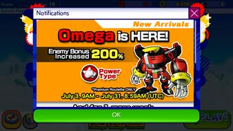 E-123 Omega Added to Sonic Runners