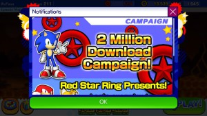Sonic Runners Hits 2 Million Downloads
