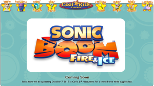 Sonic Boom Fire & Ice to Get Fast Food Toys