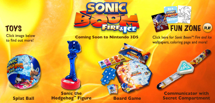 Sonic Boom Fire And Ice Kid S Meal Toys Now Available At Carl S Jr