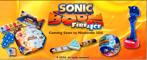 Sonic Boom: Fire and Ice Kid's Meal Toys Now Available at Carl's Jr./Hardee's
