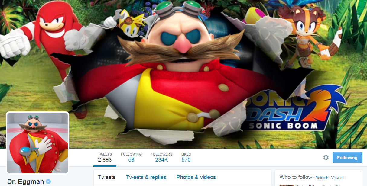 Dr. Eggman Takes Over Sonic The Hedgehog's Twitter