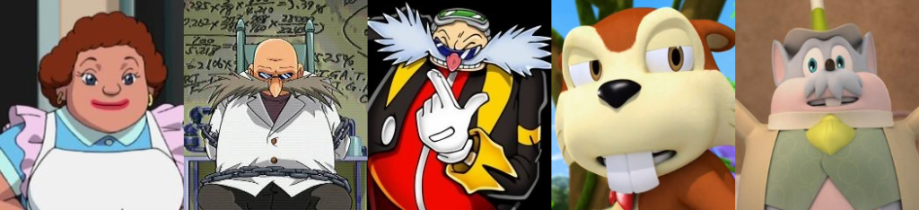 Mike Pollock non-Eggman Sonic characters